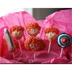 "Disney/Pixar ""brave"" cake pops By sugarqueencakepop. 3rd Birthday Parties, Birthday Fun, Birthday Cakes, Birthday Ideas, Party Fun, Party Time, Party Ideas, Disney Food, Disney Pixar"