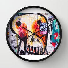 Graffiti Skull Wall Clock by Victoria Herrera - $30.00