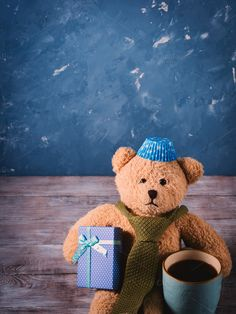 Christmas background with teddy bear by Life Morning Photography on @creativemarket