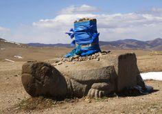 Turtle statue in Orkhon Valley | Karakorum, Mongolia