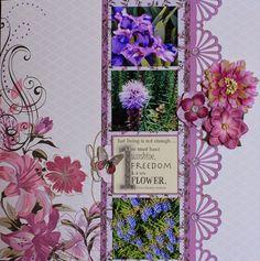 Kaisercraft- Violet Crush Collection Scrapbook Page Layouts, Scrapbook Pages, Vacation Scrapbook, Hans Christian, November 2015, Flowers Garden, Give It To Me, Xmas, Album