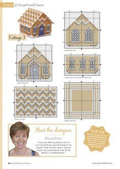 Cross stitch plastic canvas cottage