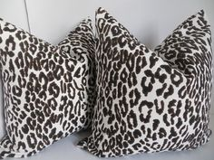 Leopard Pillow Cover, Brown and White Pillow cover, Leopard Brown Pillow, White Black Pillow - Pillow Art Black And White Pillows, White Couches, Brown Pillows, Brown Couch, Couch Pillows, Accent Pillows, Brown Pillow Covers, Decorative Pillow Covers, Modern Couch