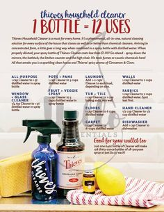 Thieves Essential Oil, A Century Innovation? Young Living Thieves® essential oil is a powerful combination of Clove, Lemon, Cinnamon, . Essential Oil Cleaner, Thieves Household Cleaner, Thieves Essential Oil, Essential Oils Cleaning, Essential Oil Uses, Thieves Cleaner, Household Cleaners, Household Tips, Young Living Oils
