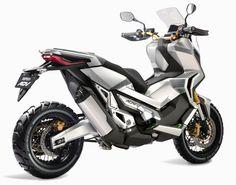 2016 Honda City Adventure Concept: The Off-Road Adventure Scooter The World Deserves Honda City, Honda S, Scooter Design, Bike Design, Auto Design, Off Road Scooter, Road Bike, Scooter Girl, Three Wheel Bicycle