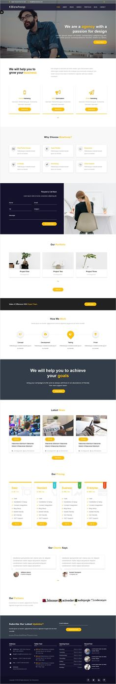 Bizwhoop is a responsive 3 in 1 #bootstrap #template for portfolio showcase, modern #business, agency or corporate website download now➩ https://themeforest.net/item/bizwhoop-material-design-html-template/18396768?ref=Datasata