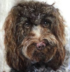 Wool pet portrait by Sarah Vaci from $200/£160