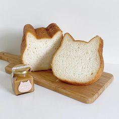 Cat Bread, Food Porn, Tasty, Yummy Food, Cafe Food, Aesthetic Food, Korean Food, Food Pictures, Bakery