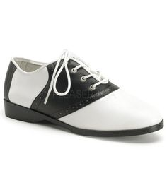 Funtasma Black and White Saddle Shoes.  Now Available at The Atomic Boutique.  A great back up pair of shoes when your done wearing those heels all day! http://theatomicboutique.com/products/funtasma-black-and-white-saddle-shoes