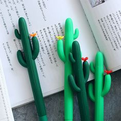 Lovely Cactus Gel Pen Ballpoint Pen Writing Stationery School Office Supplies - List of the most creative DIY and Crafts Cactus, Cool School Supplies, Cute Pens, Cute Stationary, Best Pens, Ballpoint Pen, Diy And Crafts, At Least, Stationery