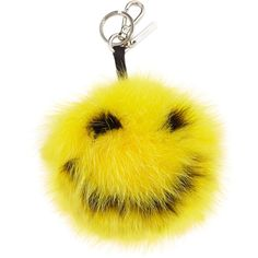 Fendi Happy Fur Monster Charm For Bag ($690) ❤ liked on Polyvore featuring men's fashion, men's bags, fendi and yellow