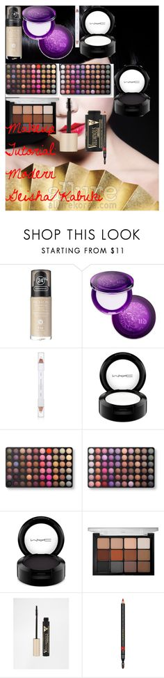 Makeup Tutorial: Modern Geisha/Kabuki by oroartye-1 on Polyvore featuring beauty, Viseart, Urban Decay, Gucci, shu uemura, MAC Cosmetics, BHCosmetics, Revlon, L'Oréal Paris and modern
