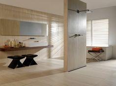 Elegant Travertin Fliesen sind ein wunderbarer Weg das Badezimmer zu individualisieren Dadurch wird auch Ihr ganzes Haus einen komplett neuen Charakter gewinnen