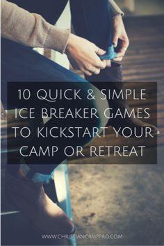 icebreaker games to kickstart camp retreat