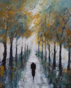 "Saatchi Art Artist Maria Karalyos; Painting, ""Octomber - sold"" #art"
