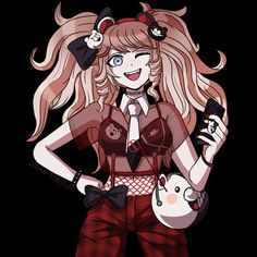 Danganronpa Junko, Danganronpa Memes, Danganronpa Characters, Draw On Photos, Pictures To Draw, Character Outfits, Cute Anime Character, Sprites, Chica Gato Neko Anime