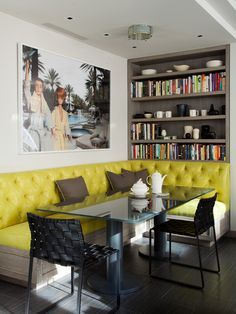 In home booth seating on Pinterest