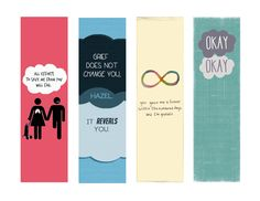 fault in our stars bookmarks - Google Search
