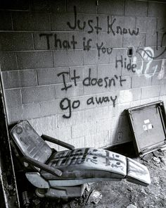 From an Abandoned asylum in MD. Aesthetic Grunge, Quote Aesthetic, Aesthetic Pictures, Abandoned Asylums, Abandoned Places, Images Terrifiantes, Apocalypse Aesthetic, Graffiti Quotes, Dark Photography