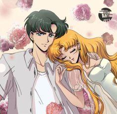 Mamoru and his sleeping Usagi from Sailor Moon Crystal Sailor Moons, Sailor Moon Manga, Arte Sailor Moon, Sailor Moon Fan Art, Sailor Neptune, Sailor Venus, Neo Queen Serenity, Princess Serenity, Sailor Moon Kristall