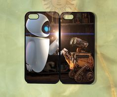 Walle and Eve Couple Cases-iPhone 5, iphone 4s, iphone 4 case, ipod 5, Samsung GS3-Silicone Rubber or Hard Plastic Case, Phone cover on Etsy, $27.99