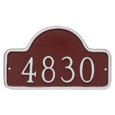 Montague Metal Products Lexington Petite Arch Address Sign Plaque Finish: Antique Copper/Copper