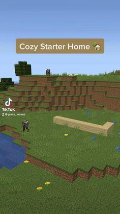 Minecraft Cake, Minecraft Stuff, Minecraft Houses, Minecraft Bedroom, Starter Home, Amon, Ratatouille, Building, Kids