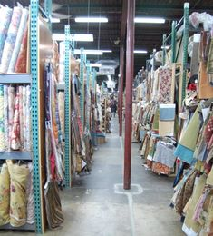 Amazing, amazing place for fabrics...hundreds of wool crepes, silks, linens, upholstery.....
