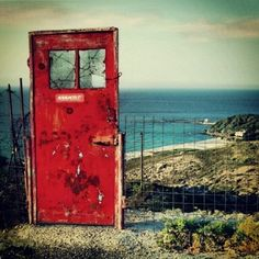 The door to happiness. Ikaria island, Dodecanese, Greece.  - Selected by www.oiamansion.com