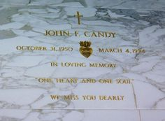 John Candy    On March 4, 1994, while filming the Western parody Wagons East!, Candy died of a massive heart attack in his sleep in Durango, Mexico, at the age of 43