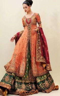 Nilofer Shahid, bridal wear wedding dresses # Bridal dresses for islamic weddings # Muslim weddings # Muslim brides# Pakistani brides # Pakinstani weddings # Pakistan wedding dresses # muslim brides Pakistani Bridal, Pakistani Dresses, Indian Bridal, Indian Dresses, Indian Outfits, Bride Indian, Pakistani Clothing, Indian Clothes, Indian Weddings
