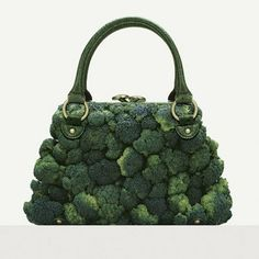 "A photographer Fulvio Bonavia dreamed of some amazing fashion accessories for his book ""A Matter of Taste"". All these amazing creations are dreamed up using Moda Natural, Blog Art, Exposition Photo, Brocolli, Food Tasting, Food Humor, Edible Art, Creative Food, Creative Bag"