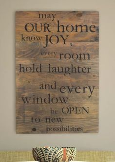 May Our Home Know Joy Sign, Wall Decor, Wall Art, Barn Wood Sign, Pallet Sign, Rustic, Farmhouse, Home Decor #ad