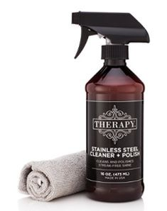 Therapy Premium Stainless Steel Cleaner & Polish w/ Microfiber Cloth 16 fl oz Best Stainless Steel Cleaner, Stainless Steel Appliances, Stainless Steel Jewelry, Best Cleaning Products, Cleaning Kit, Cleaning Supplies, Grill Cleaning, Kitchen Cleaning, Kitchen Tips