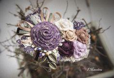 Купить Брошь Ностальгия в лиловом цвете - сиреневый, бохо, бохо украшения, бохо брошь