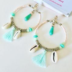 Diy Tassel Earrings, Beaded Earrings, Seashell Jewelry, Bohemian Jewelry, Diy African Jewelry, Head Jewelry, Craft Accessories, Handmade Jewelry Designs, Bijoux Diy