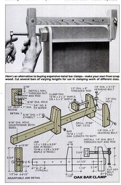 Teds Woodworking® - Woodworking Plans & Projects With Videos - Custom Carpentry Woodworking Clamps, Woodworking Workshop, Woodworking Projects Diy, Diy Wood Projects, Woodworking Tools, Wood Crafts, Woodworking Techniques, Popular Woodworking, Woodworking Furniture