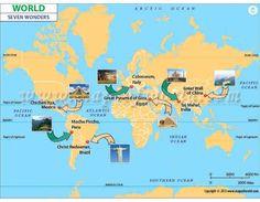 Buy Seven Wonders World Map Online