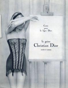 Christian Dior (Lingerie) 1955 Girdle www.STATEOFCHIC.com                                                                                                                                                                                 More