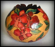 Gourd art by Deborah Easley |Pinned from PinTo for iPad|