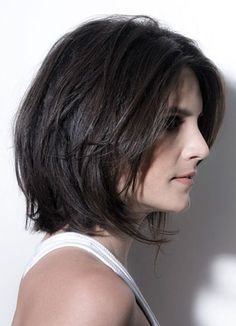 80 Bob Hairstyles To Give You All The Short Hair Inspiration - Hairstyles Trends Girl Short Hair, Short Hair Cuts, Medium Hair Styles, Curly Hair Styles, Hair Medium, Trending Haircuts, Layered Hair, Layered Bobs, Long Layered