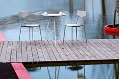 Break table with 'Lisa' chairs http://www.furniturefusion.co.uk/ProductDetails/Break #outdoorfurniture #contractfurniture
