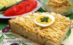 Mustáros tojáspástétom recept fotóval Hummus, Vegetarian, Bread, Dishes, Breakfast, Ethnic Recipes, Desserts, Food, Desk