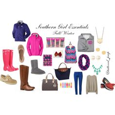 """Southern Girl Essentials"" by tattooed-prep on Polyvore"
