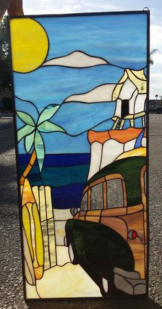 This lovely 14 x 26 and can be custom made to any size specs or colors you may need.. It is made with the highest quality stained glass (USA