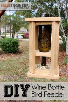 DIY Wine Bottle Bird Feeder