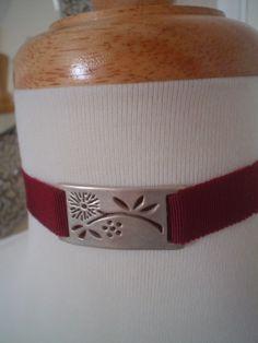 Sterling Silver Lattice Ribbon Bracelet or Choker by tiachia