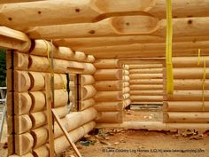 Log and Timber Frame Homes During Construction - Lake Country Log Homes