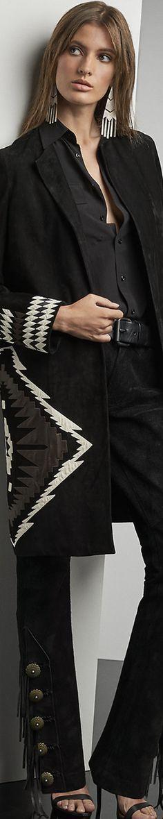 Ralph Lauren Mackenzie Suede Coat