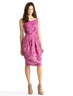 Rachel Roy Back Drape Cowl A- Line Dress